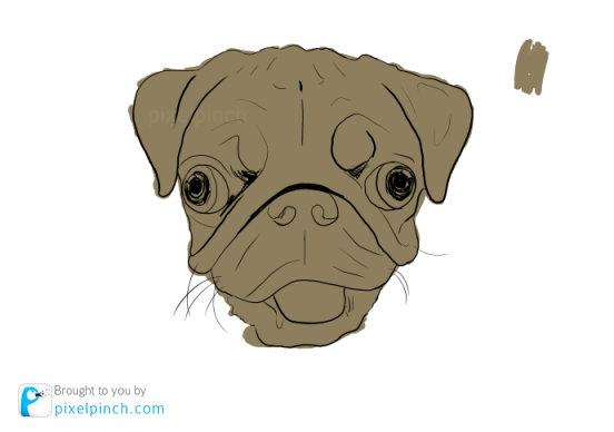 Step 2 Digital Art Dog Pug PixelPinch