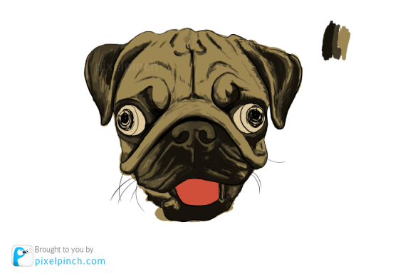Step 5 Digital Art Dog Pug PixelPinch Digital Coloring Tutorial using Corel Painter & Tablet