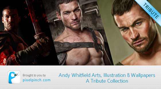 Andy Whitfield tribute collection Andy Whitfield Arts, Illustration & Wallpapers   A Tribute Collection