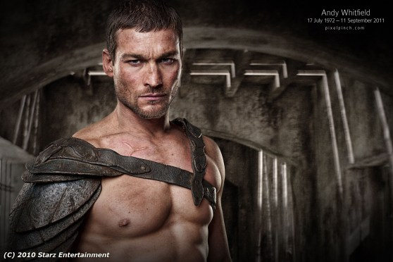Andy Whitfield tribute wallpaper spartacus blood and sand Andy Whitfield Arts, Illustration & Wallpapers   A Tribute Collection
