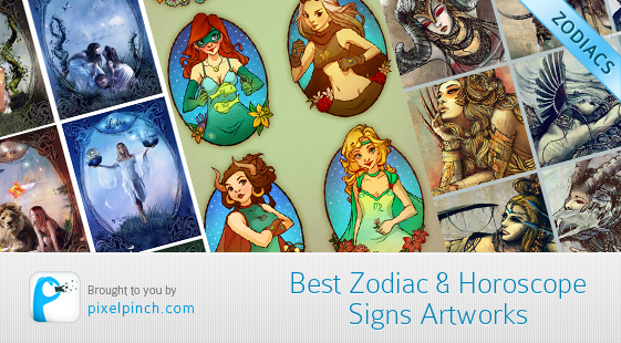 Best Zodiac Horosope Signs Artworks1 Best Zodiac & Horoscope Signs Artworks