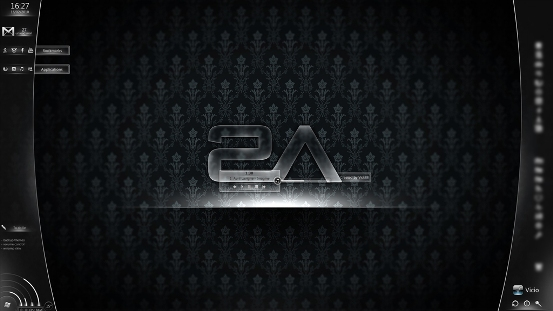 Dark Glass for Rainmeter by VicK88 Best Rainmeter Themes / Skins Collection   2011