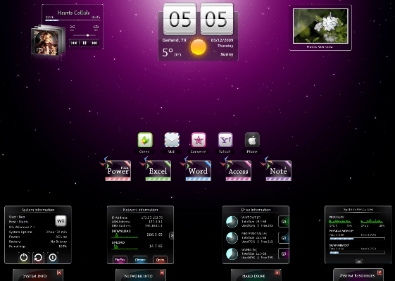 Hero by minhtrimatrix Best Rainmeter Themes / Skins Collection   2011