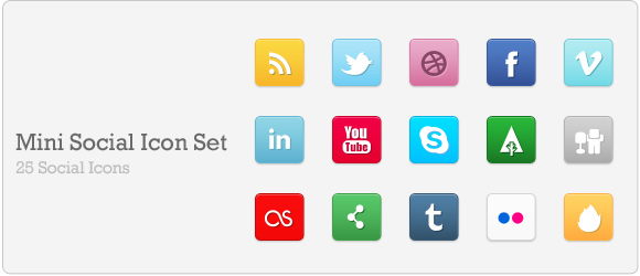 mini social icons dd Best Free Social Media Icon Pack Collection