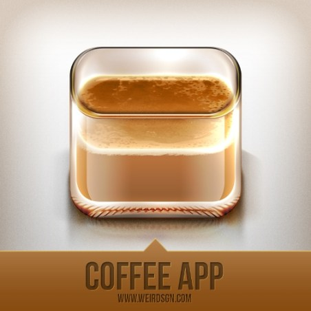 an icon for coffee lovers by deetz d4derk9 Fresh & Best Icon Collection Of The Month October #3