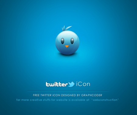 free cute twitter bird by graphcoder d4c7kj6 Fresh & Best Icon Collection Of The Month October #3