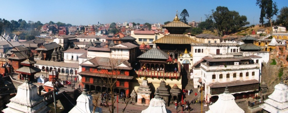 pashupatinath temple panaroma by lakshmann 7 UNESCO Listed Heritage Sites of Nepal (within Kathmandu Valley)