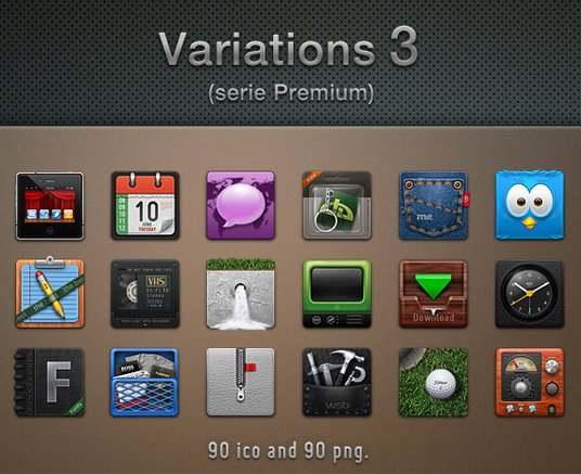 variations 3 by guillendesign d4bp25k Fresh & Best Icon Collection Of The Month October #3
