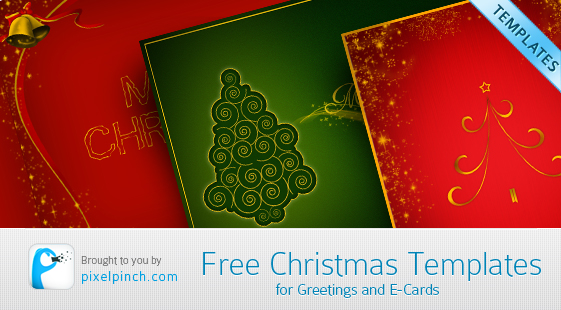 Free Christmas Templates Free Christmas Design Templates for Greetings and eCards