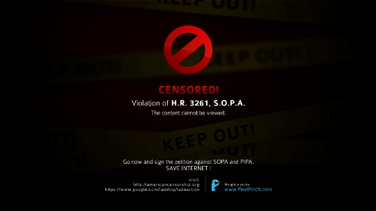 Censored Say No To SOPA 1350x760 PixelPinch Wallpapers and Facebook Cover to protest SOPA & PIPA act