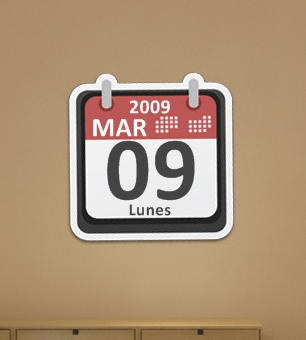 Sticker Calendar by alexgt04 Best date, time and calendar Rainmeter skins / themes