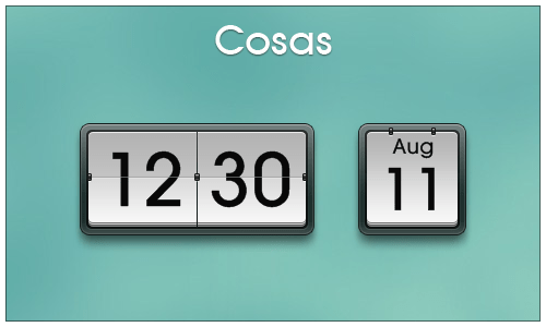 cosas by kiko11 Best date, time and calendar Rainmeter skins / themes
