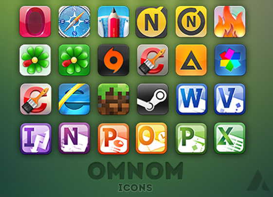 omnom icons  remade  by ampero Fresh & Best Icon Collection Of The Month May#5