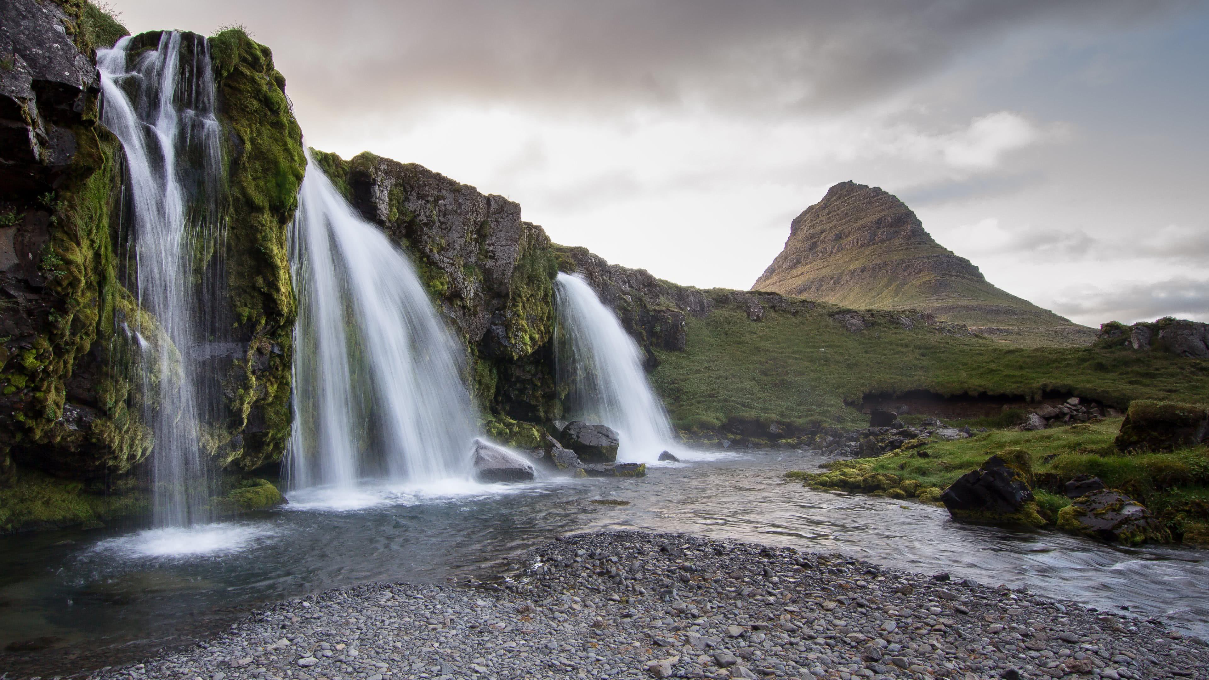 Wallpaper Fall Weather Iceland Waterfall Kirkjufell Mountain Uhd 4k Wallpaper