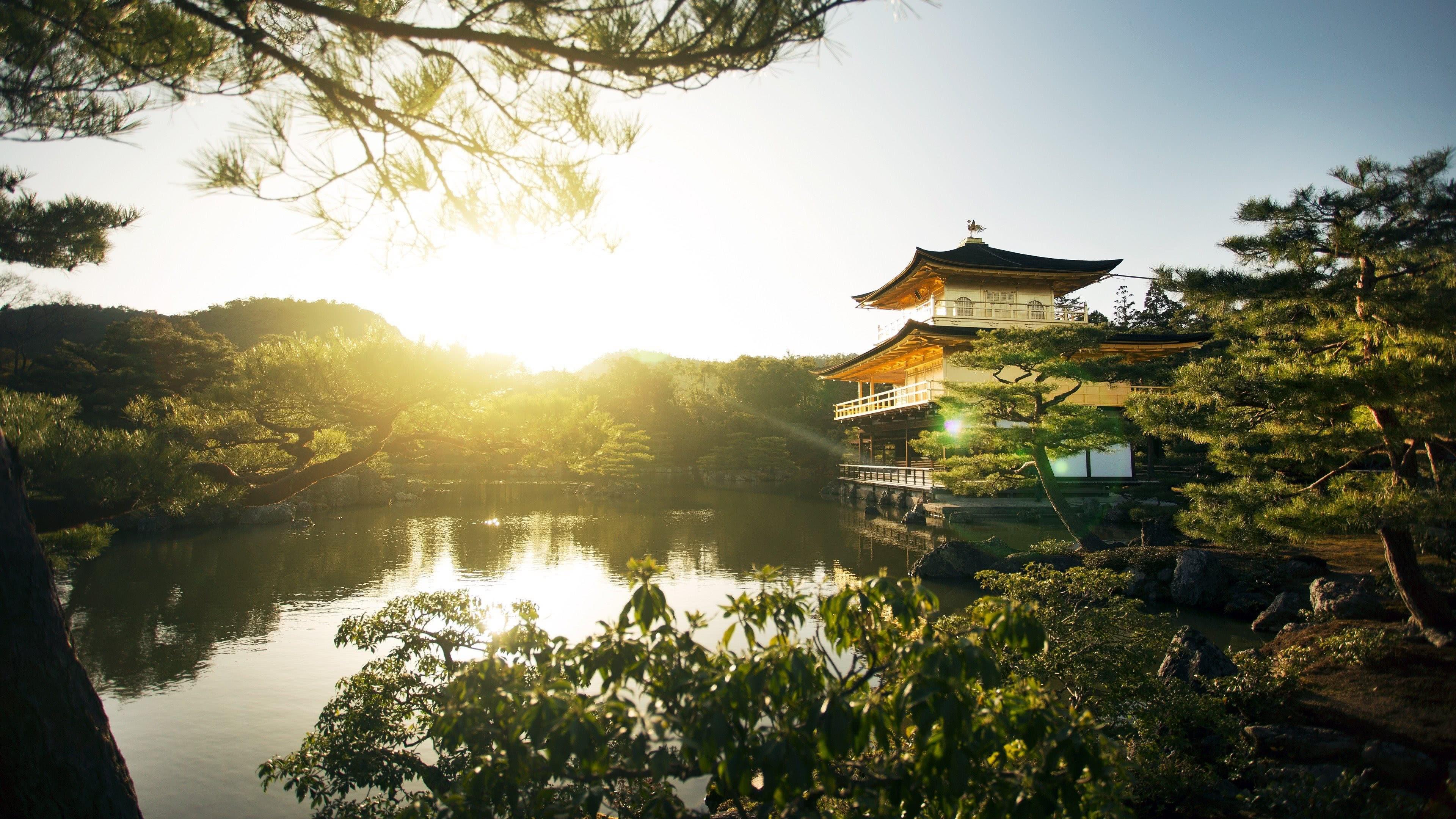 Cars Hd Mobile Wallpapers Temple Of The Golden Pavilion Kinkaku Ji Kyoto Uhd 4k