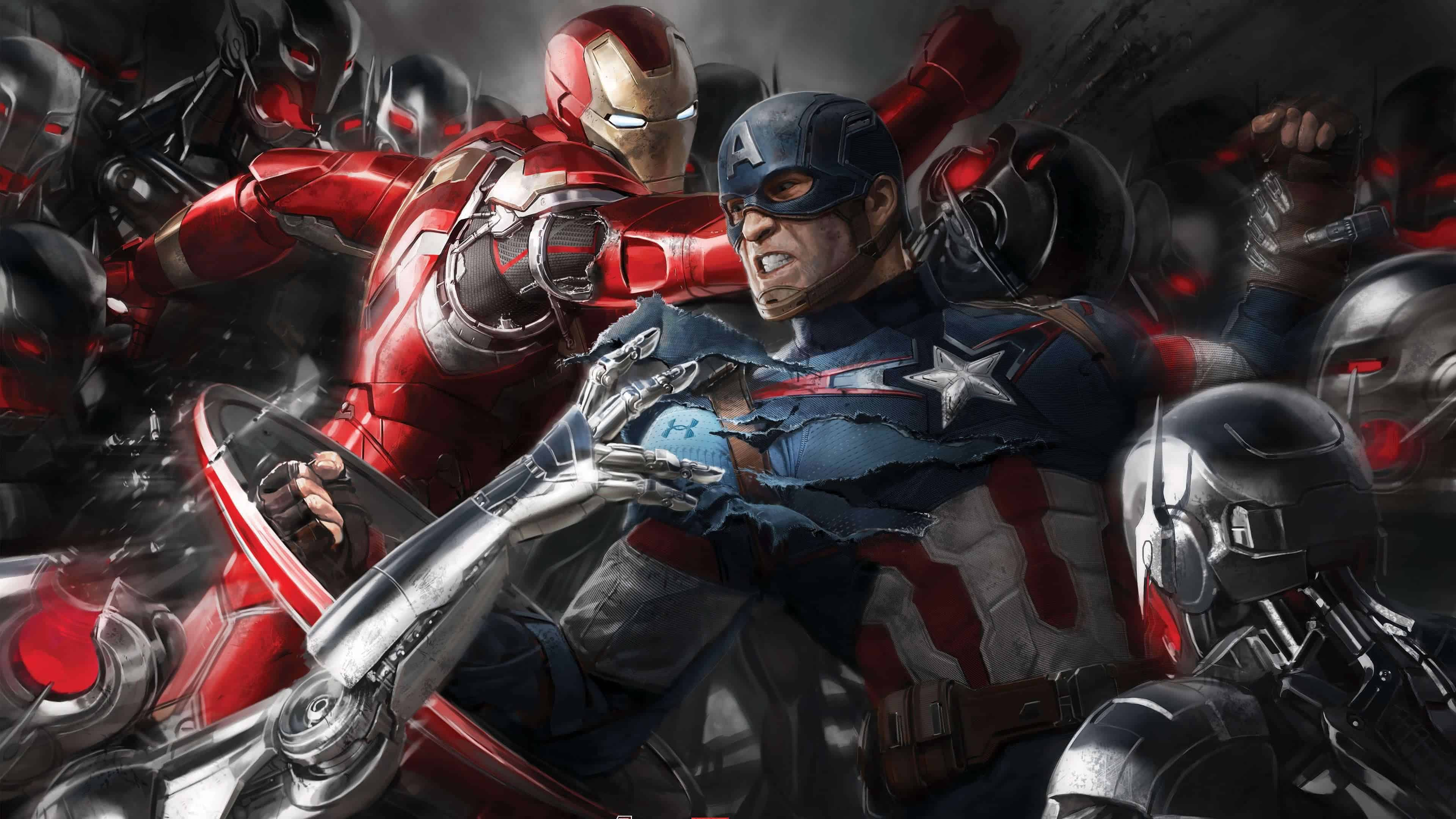 Tony Stark Hd Wallpapers Captain America And Iron Man Civil War Uhd 4k Wallpaper