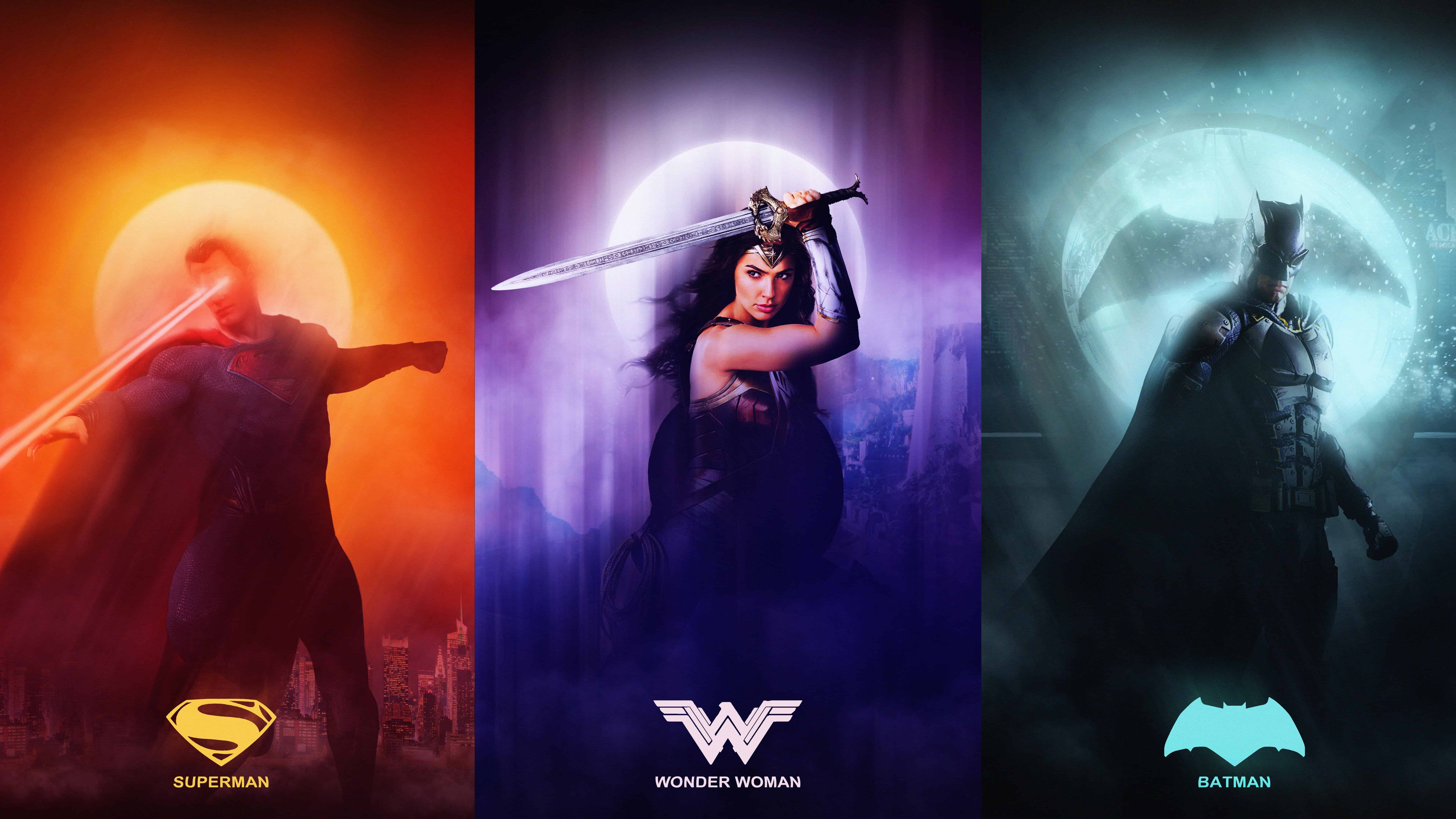 Pixar Cars Desktop Wallpaper Justice League Superman Wonder Woman Batman Uhd 8k