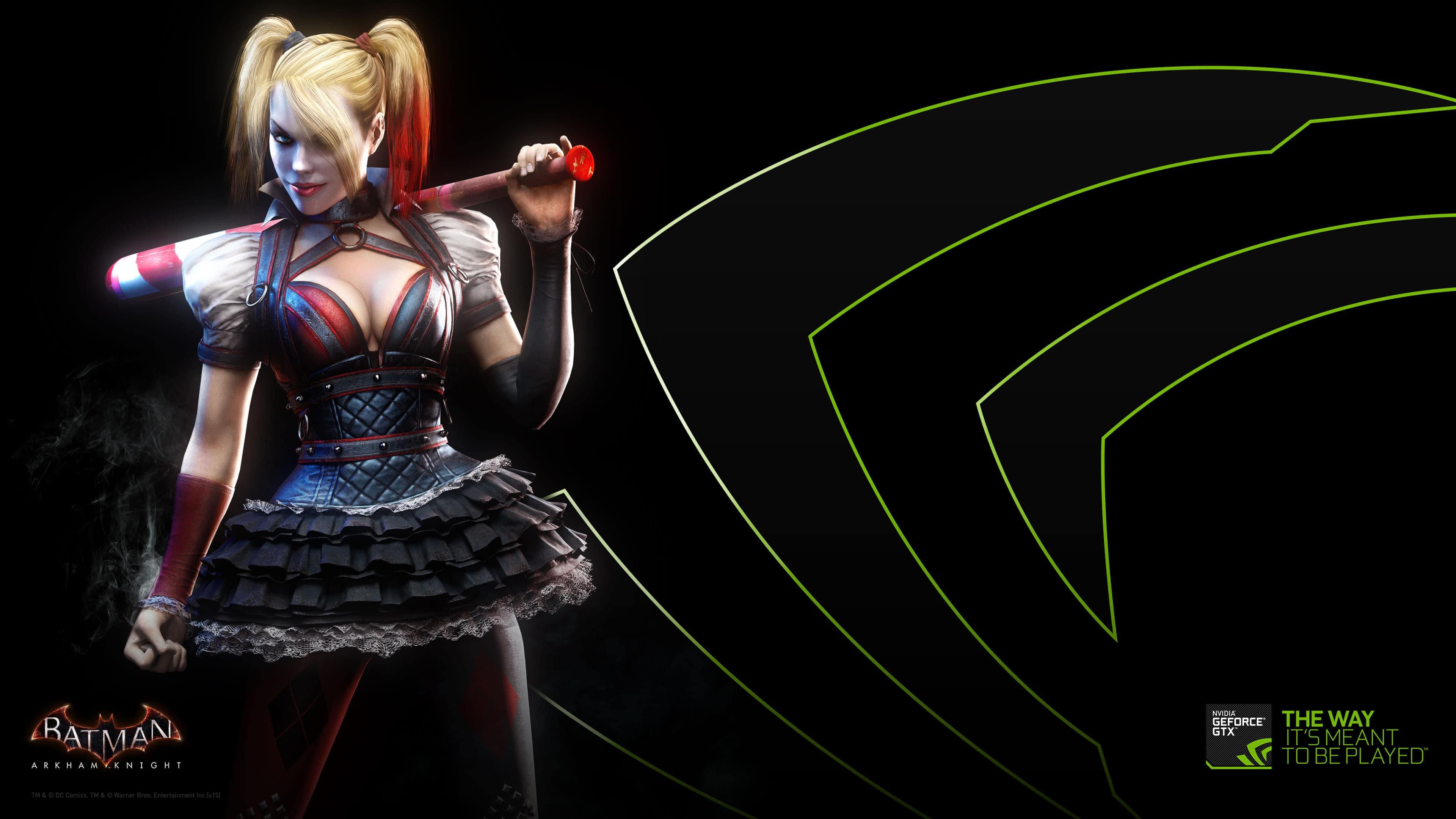 Destop Wallpaper Cars Nvidia Harley Quinn Arkham Knight Uhd 4k Wallpaper Pixelz