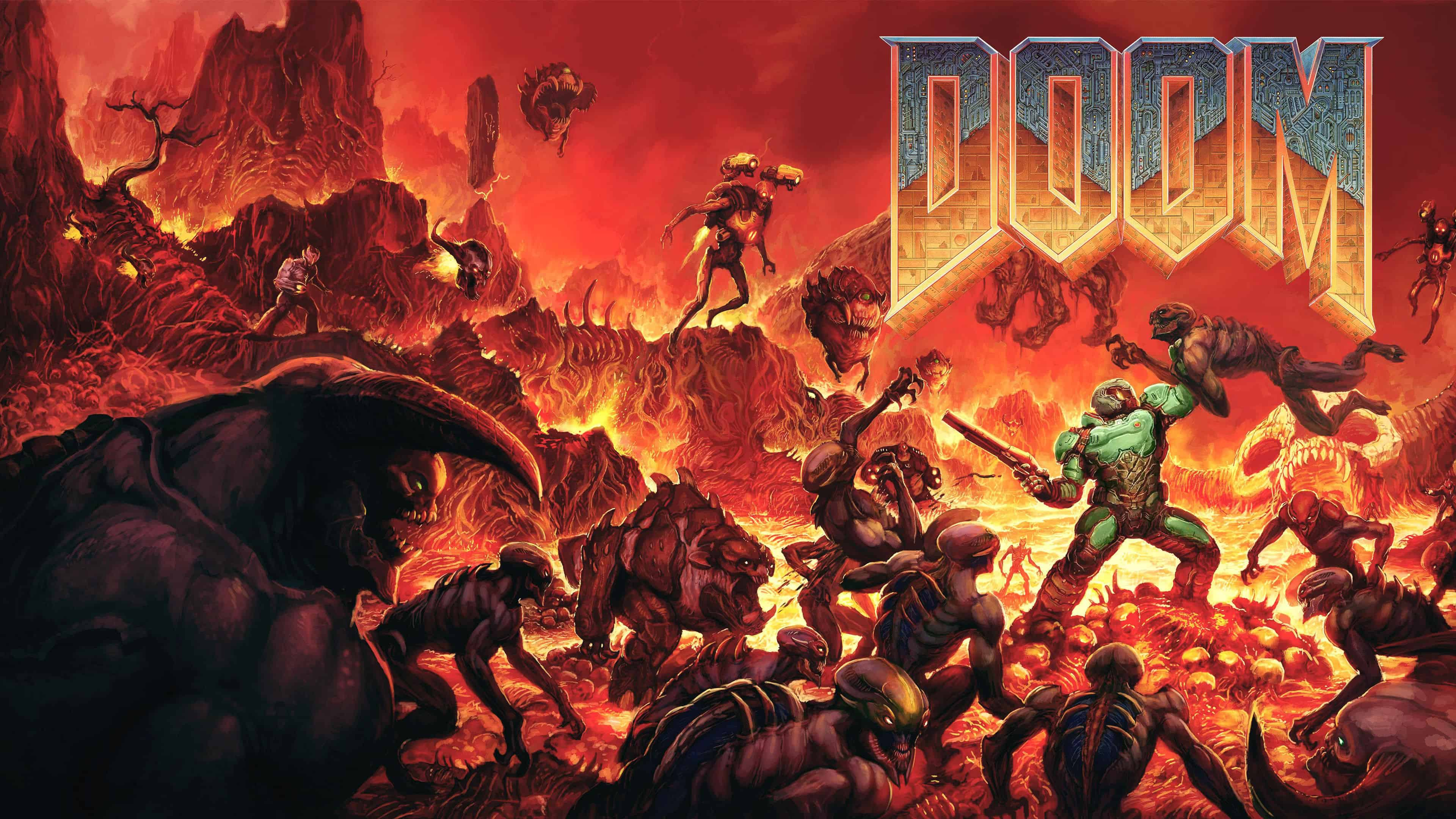 Ultra Hd Desktop Wallpapers Doom Original Cover Uhd 4k Wallpaper Pixelz