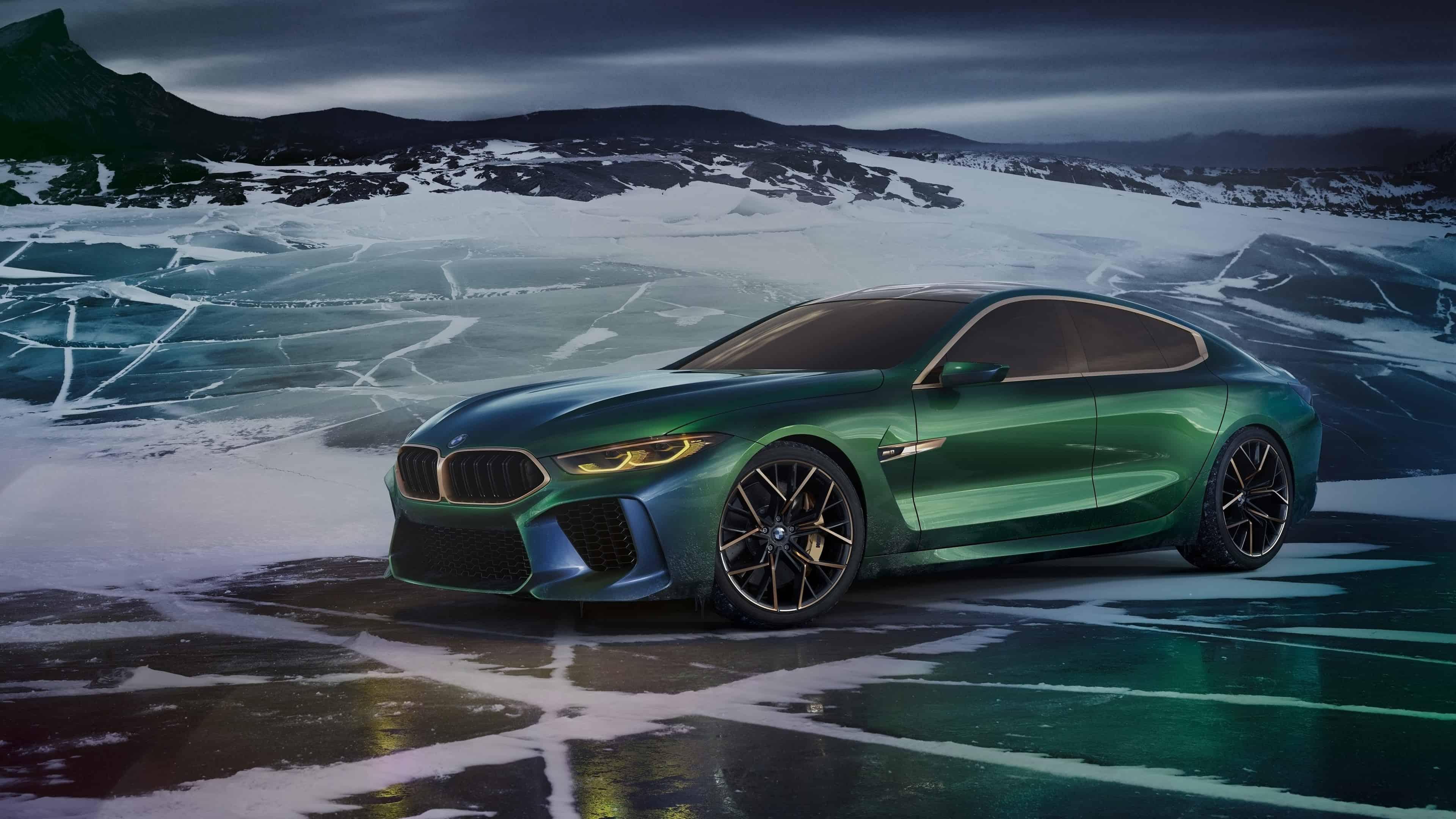 Cars Wallpaper Hd Wallpaper Bmw M8 Gran Coupe Concept Green Uhd 4k Wallpaper Pixelz