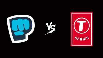 PewDiePie Logo Vs T-Series Logo UHD 4K Wallpaper   Pixelz