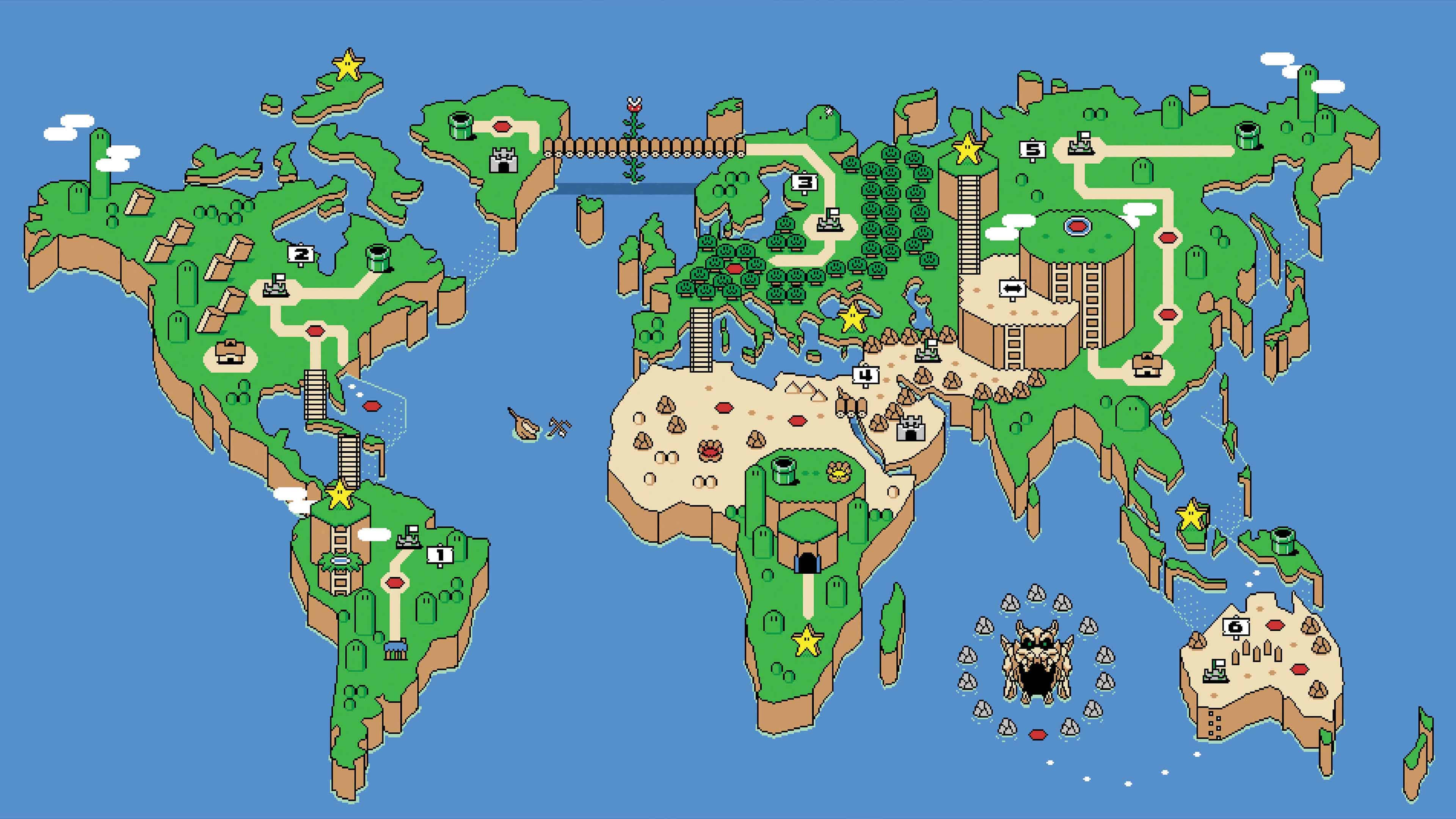Best Cars And Bikes Wallpapers Super Mario World Map Uhd 4k Wallpaper Pixelz