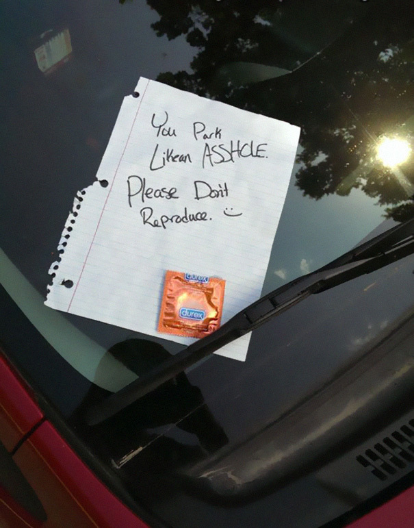 People Who Got Furious Over Bad Parking Jobs And Left Angry Notes Fun