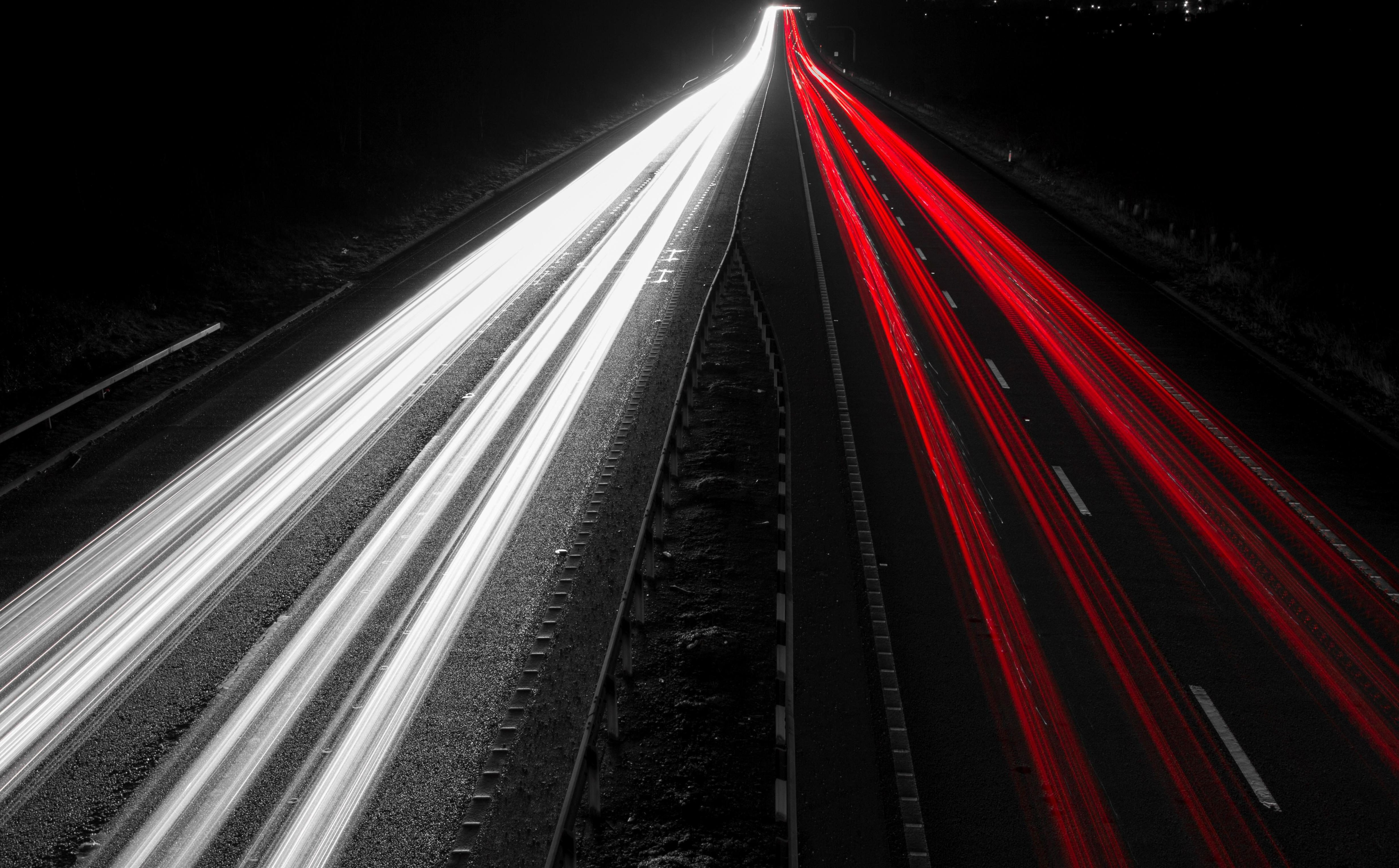 Hd Car Background Wallpaper Free Picture Abstract Lights Night Road Traffic