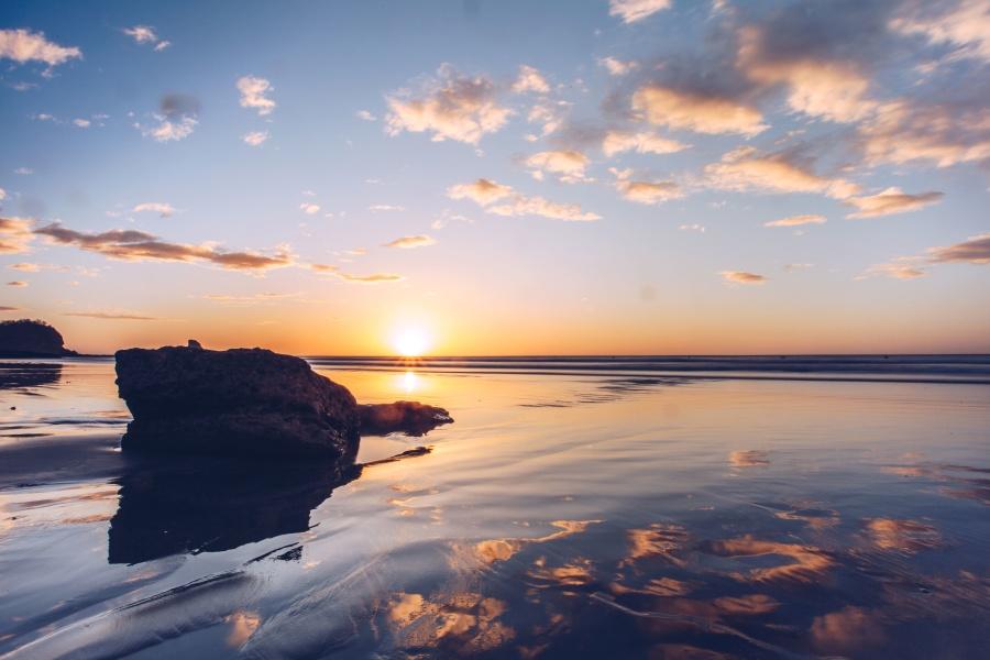 Windows 7 Wallpaper Hd Free Picture Beach Clouds Rock Sea Sun Water