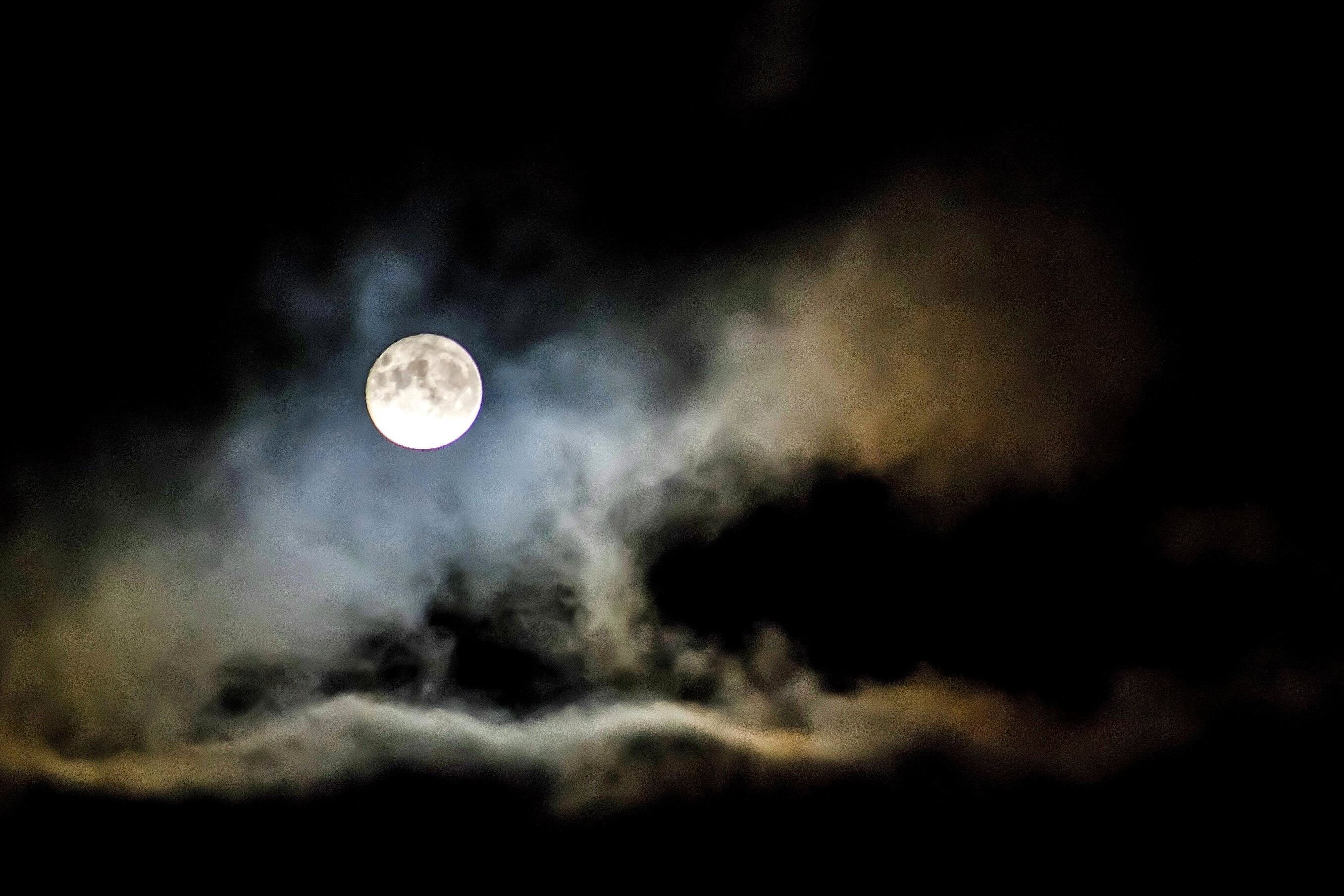 Black Marble Wallpaper Free Picture Moonlight Moon Cloud Night