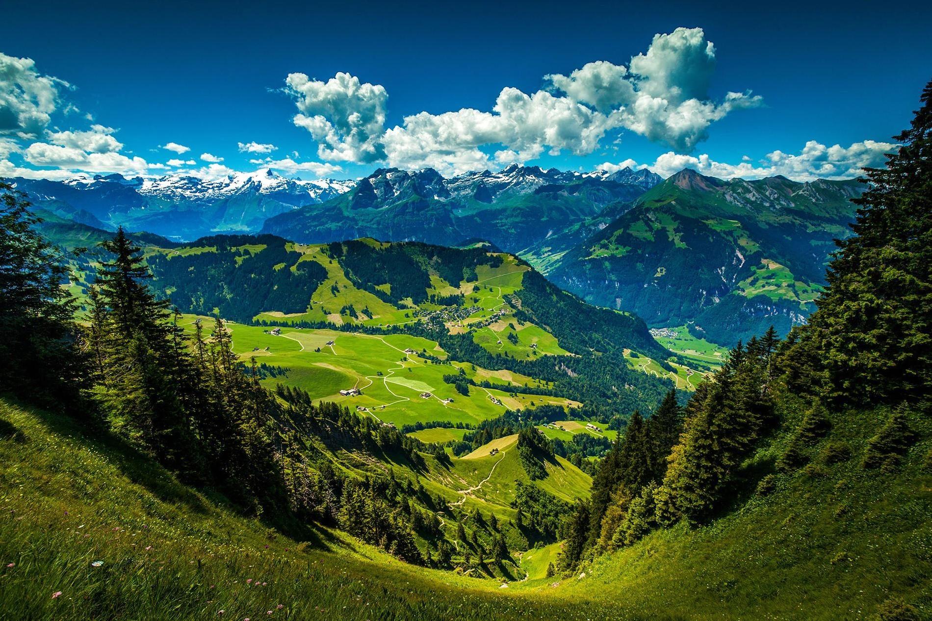 Wallpaper Primavera Hd Image Libre Paysage Montagne Nature Bois Sommet De