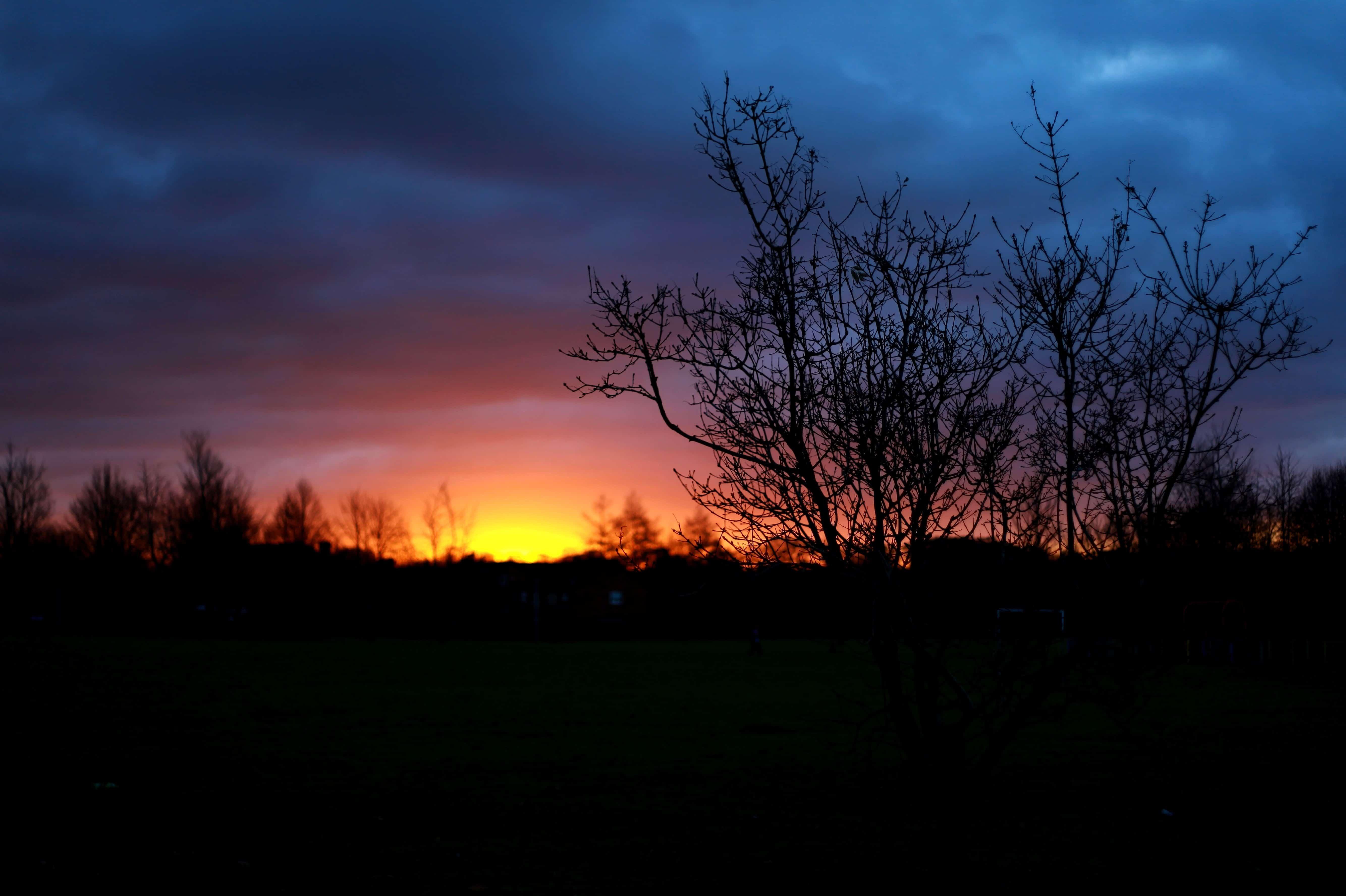 The Amazing Wallpaper Hd Free Picture Dark Night Dawn Sunrise Silhouette