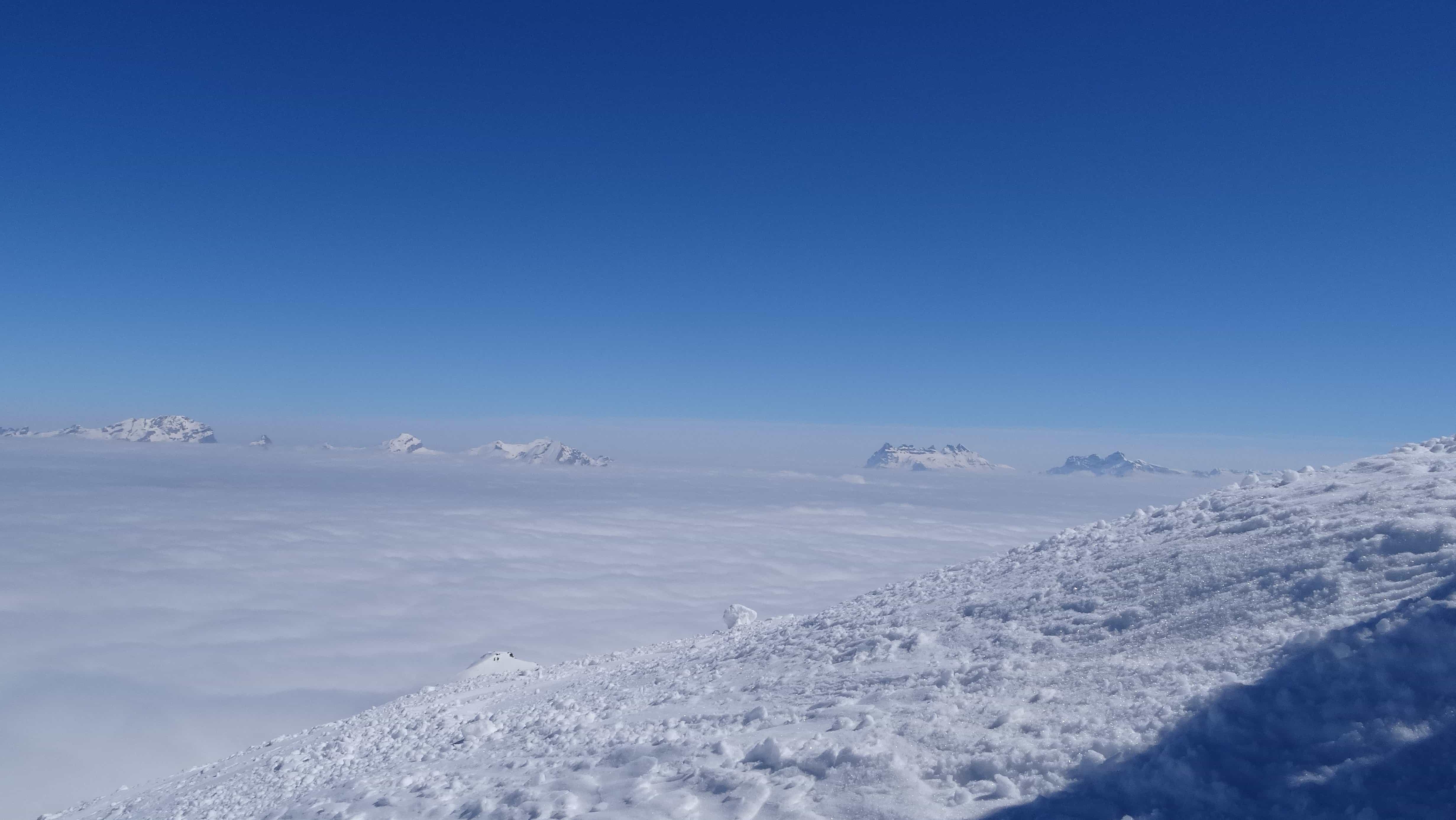 Wallpaper Full Color Hd Free Picture Blue Sky Ridge Altitude Winter Snow
