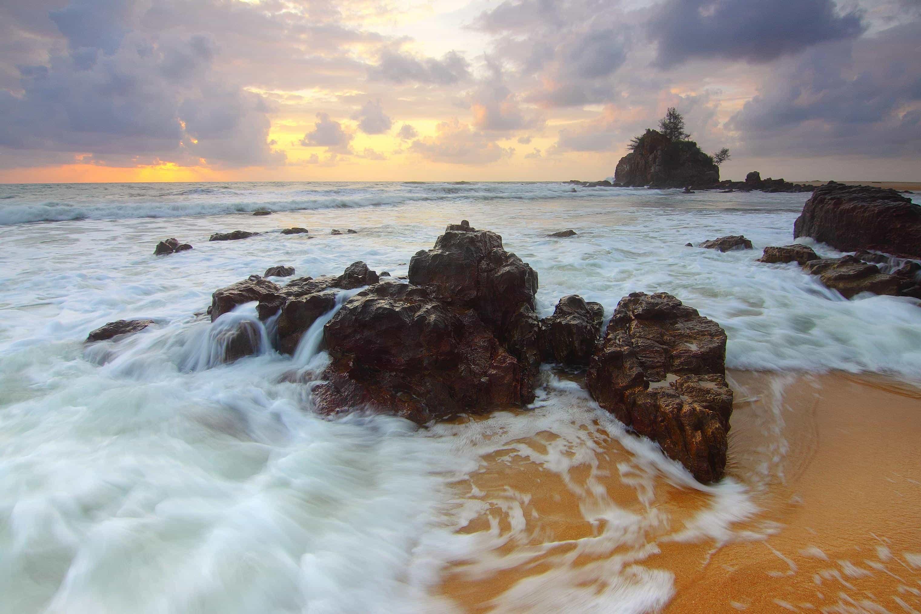 Wallpaper Of Water Fall Free Picture Water Sunset Beach Sea Ocean Seashore
