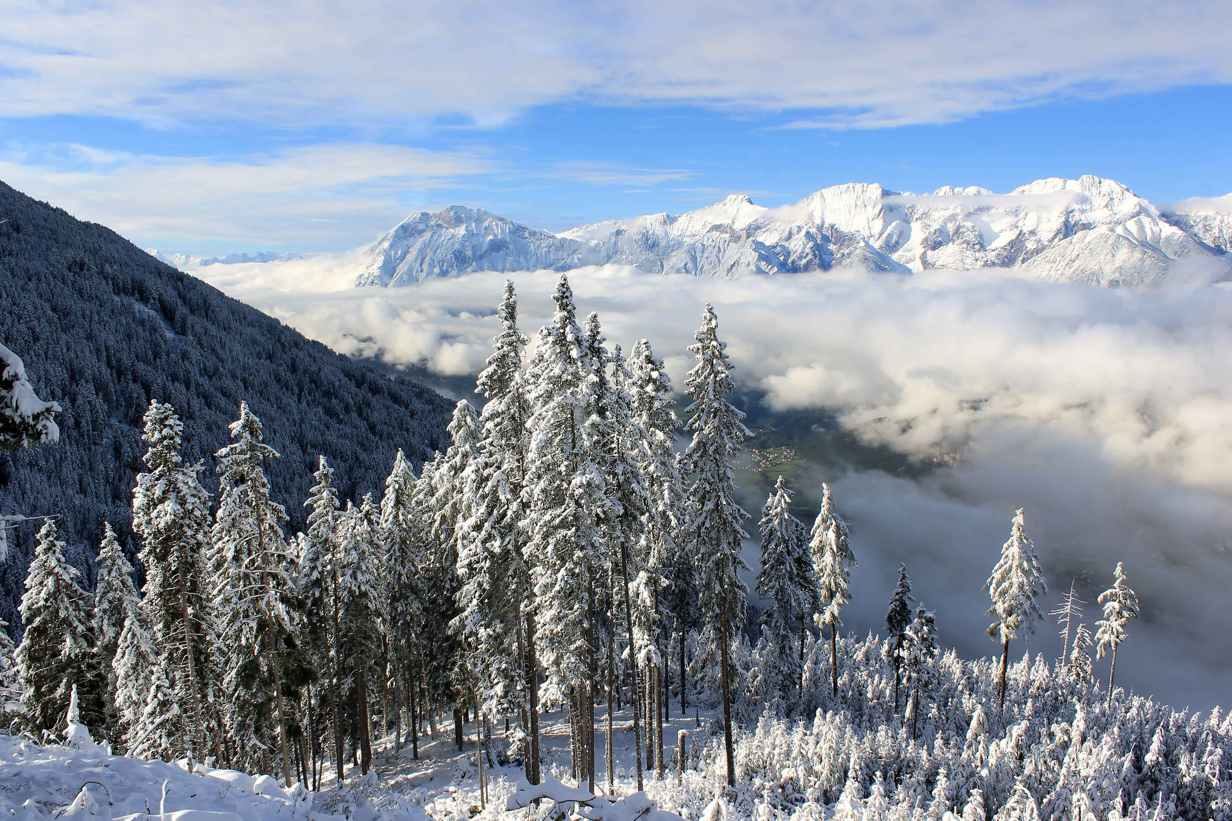 Nature Wallpaper Full Hd National Geographic Free Picture Landscape Wood Blue Sky Cold Mountain