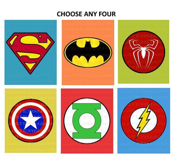 Printable Superhero Symbols Cake Ideas And Designs clipart free image