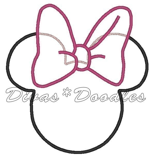 Minnie Mouse Ears Pattern free image