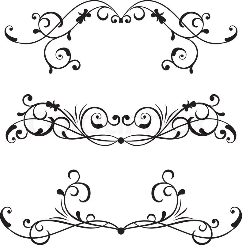 Victorian Scroll Border Clip Art free image