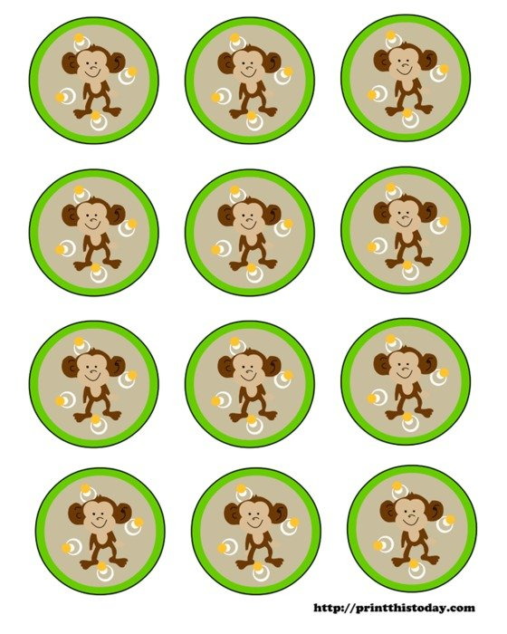 Free Printable Monkey Clip Art For Baby Shower free image