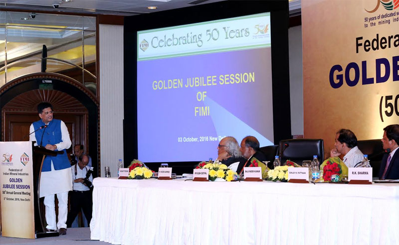 Speaking at 50th Annual General Meeting of Federation of Indian Mineral industries in New Delhi