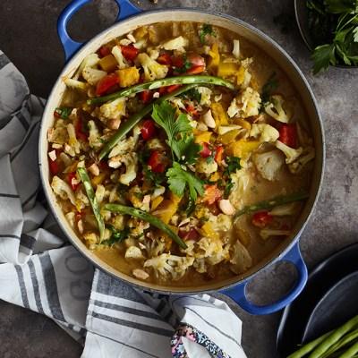 Curry de coliflor y zapallo