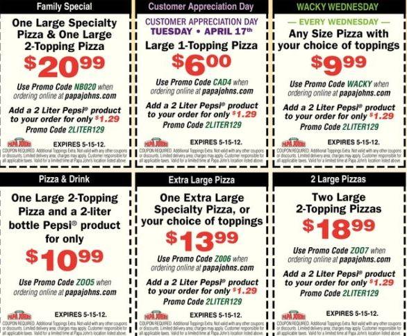 Papa-Johns-printable-coupons-2012-2013 and PapaJohns coupon codes