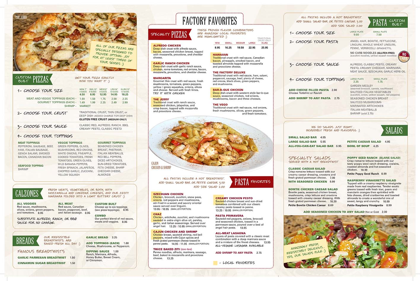 Italian Pizzas Menu Your Stop For The Best Italian In Provo The Pizza Factory