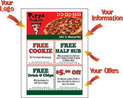 Pack the Pizza Sticky Note Flyer Design - Pizza Notes