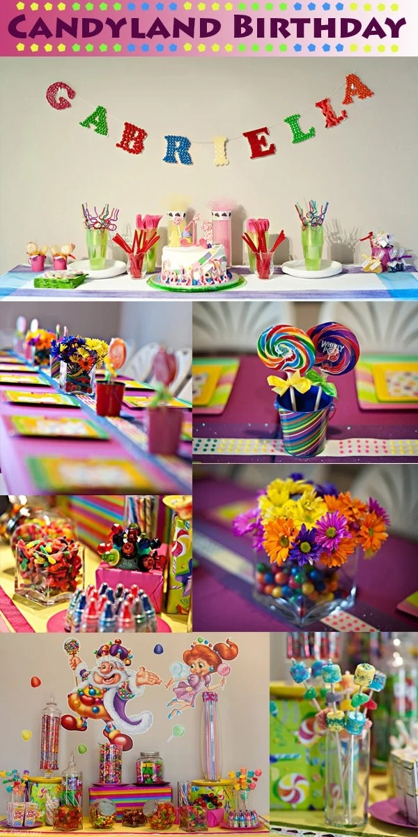 Como Decorar Un Cuarto De Juegos Candyland Birthday Party | Pizzazzerie