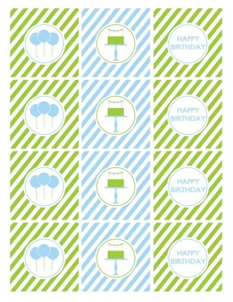 Birthday Party Ideas for Boys with Free Printables - blue and green birthday party