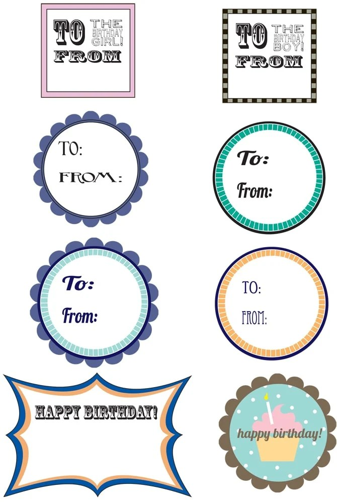 Free Printable Birthday Gift Tags Pizzazzerie