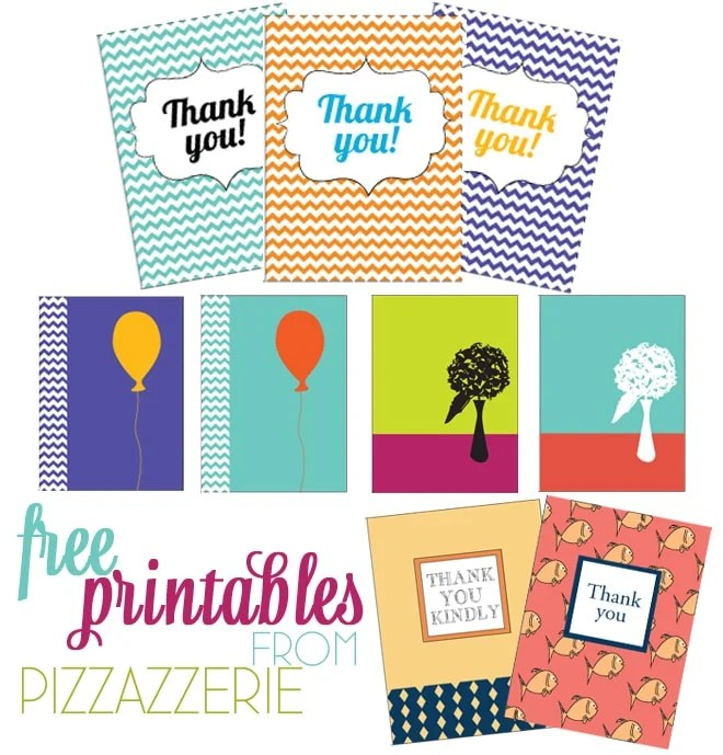 Free Stationery + Thank-You Card Printables Pizzazzerie