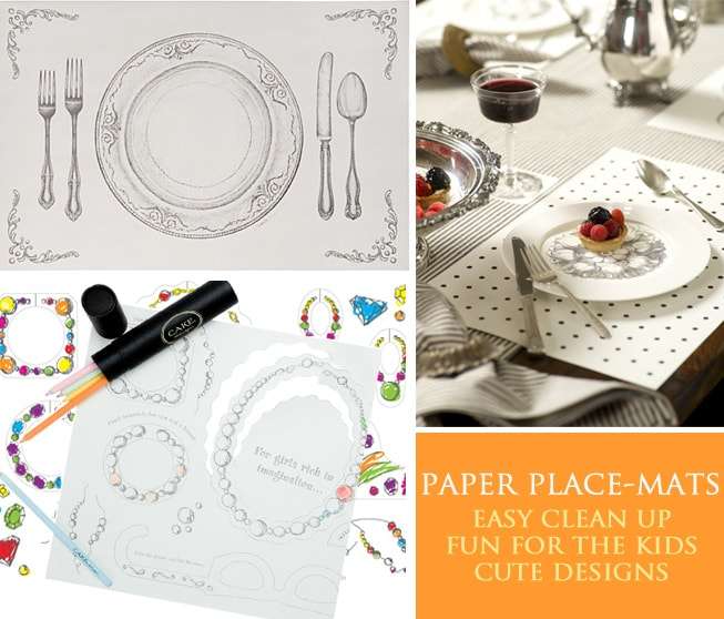 Party Trend} Paper Placemats! Pizzazzerie