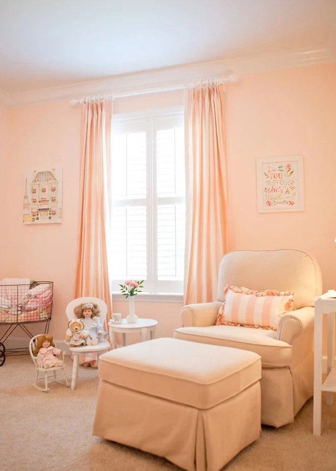 Pale Pink Wallpaper For Girl Nursery Baby Girl Nursery Ideas With Behr Made To Be A Momma
